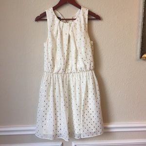 Dresses & Skirts - Cream / Gold Dress